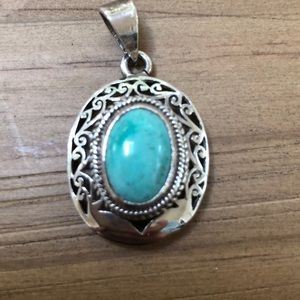 Silver turquoise pendant